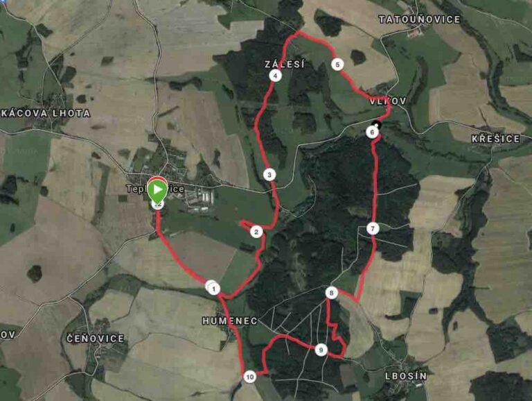 teplysovicky beh Trasa 12 km spulka