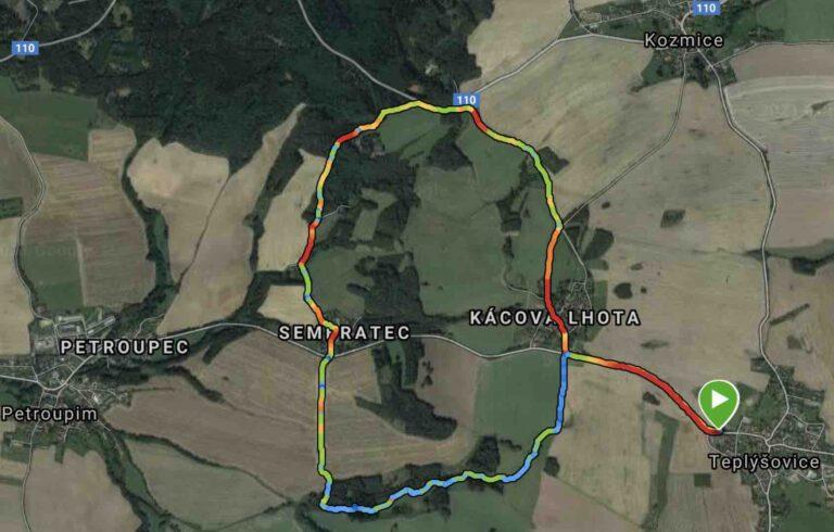Nordic walking teplýšovický běh