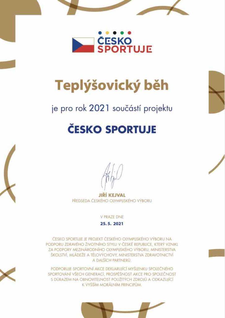 Běh teplýšovice 2021 česko sportuje